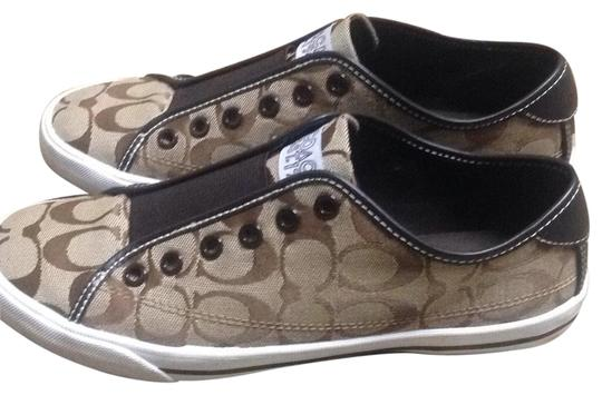 Coach Brown/white Flats Image 0