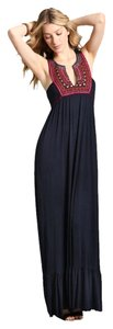 Navy Maxi Dress by T-Bags Maxi Resort