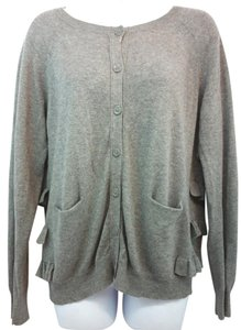 Sandro Gray Knit Cardigan
