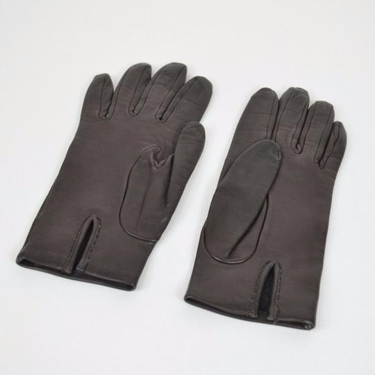 Hermès Authentic Vintage Hermes Lambskin Leather Gloves with Silk Lining Image 2