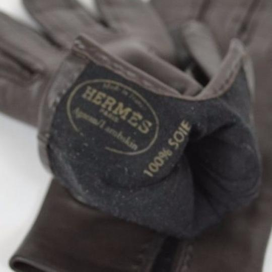 Hermès Authentic Vintage Hermes Lambskin Leather Gloves with Silk Lining Image 3
