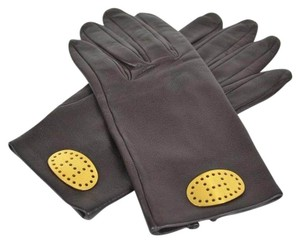 Hermès Authentic Vintage Hermes Lambskin Leather Gloves with Silk Lining