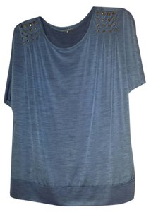Laura Scott Top Dark blue and black