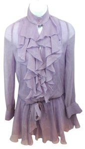 A|X Armani Exchange Lavender Silk Dress Top Purple