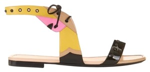 Fendi Yellow, Black, Pink and Ivory Sandals