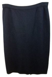 St. John Navy Blue Knit Skirt
