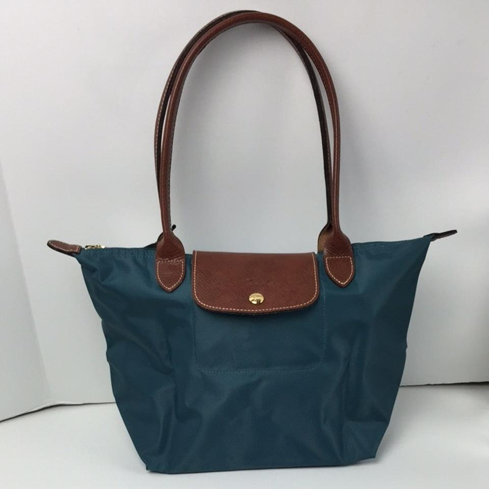 653256f5d7 Longchamp Le Pliage Medium Shoulder Mint Nylon Tote - Tradesy