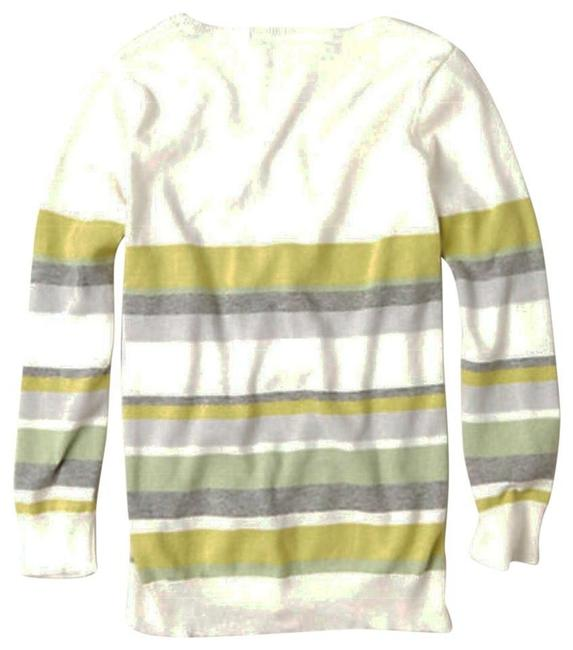 Anthropologie Styling Letter D V Neck Cheerful Stripe Layering Sweater Image 2