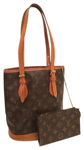 Louis Vuitton Vintage Leather Tote Shoulder Bag
