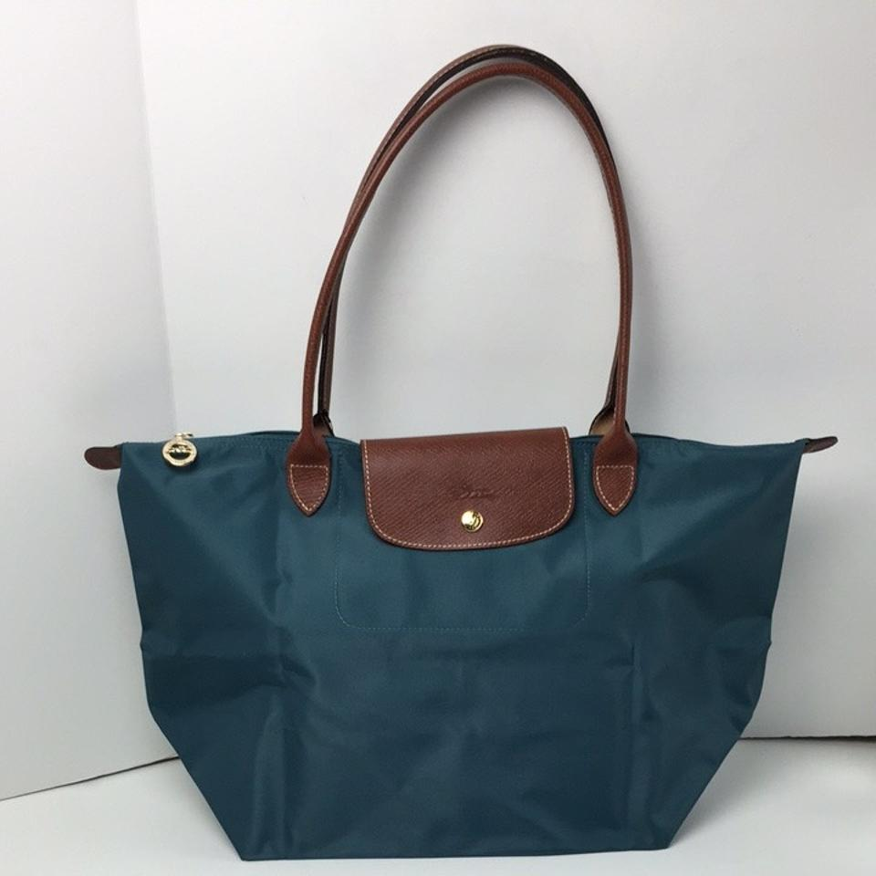 9eaa216814 Longchamp Le Pliage Large Shoulder Mint Nylon Tote - Tradesy
