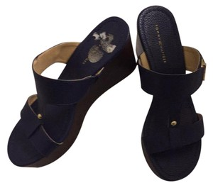 Tommy Hilfiger Navy Wedges
