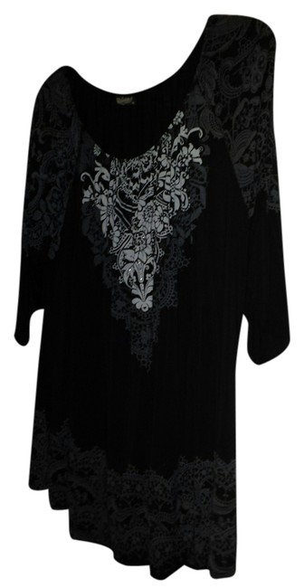 Item - Black and Grey Blouse Size 22 (Plus 2x)