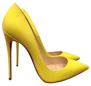 Christian Louboutin So Kate Stiletto Sun Patent yellow Pumps
