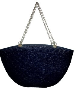 Heiress Damier Canvas Tote in Navy Blue
