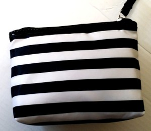 Other Makeup Kate Spade-esque Black and white Stripe Clutch