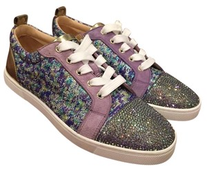 Christian Louboutin Gondolastrass Strass Crystal Trainer Sneaker purple Athletic