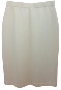 St. John Knit Skirt BEIGE