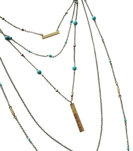 Lucky Brand Major Lucky Layer Turquoise Necklace