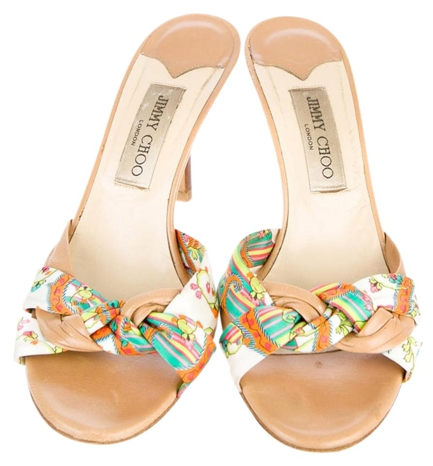 Jimmy Choo Tan and Floral Floral and Pumps a40fce