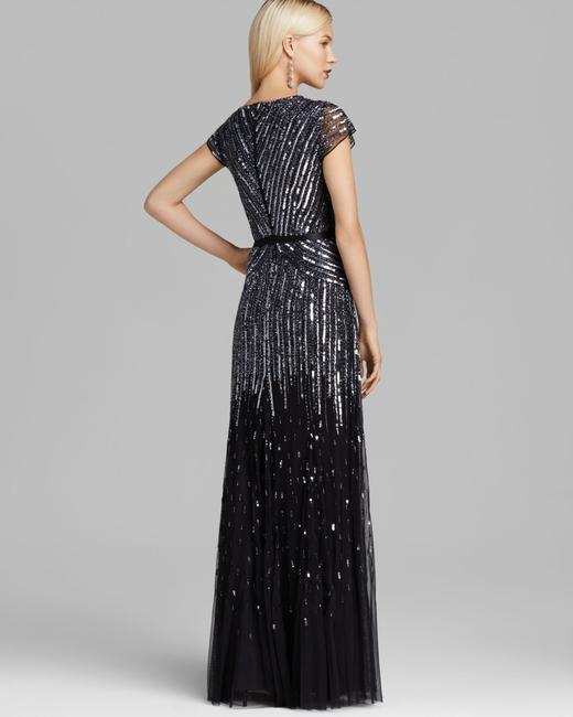 Adrianna Papell Beaded Ball Gown Gown Black Dress Image 1
