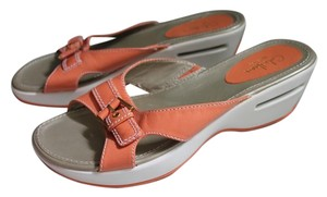 Cole Haan Comfortable Leather Orange Sandals