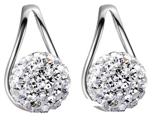 Other New Sterling Silver Filled Stud Earrings Crystal Ball J2777
