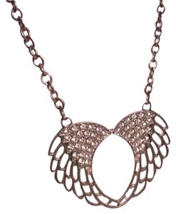 Other Jeweled Heart Wing Necklace