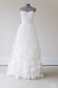 BHLDN Ivory Nylon Tulle Seed Beads; Silk Charmeuse Cotton Lining. Callistemon Vintage Wedding Dress Size 6 (S)