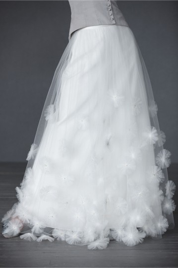 BHLDN Ivory Nylon Tulle Seed Beads; Silk Charmeuse Cotton Lining. Callistemon Vintage Wedding Dress Size 6 (S) Image 10