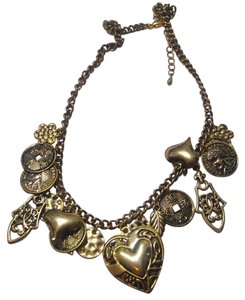 New Bronze Hearts Charm Necklace J2778