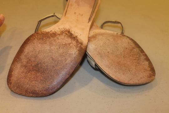 Cole Haan Leather Cream Sandals
