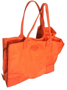 Tory Burch Ella French Nylon Mini Tote in Orange
