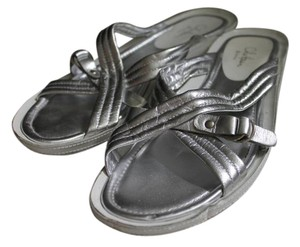 Cole Haan Metallic Casual Silver Sandals