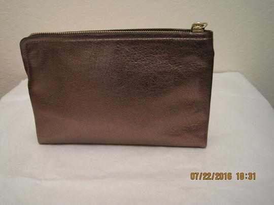 Coach Pouch Clutch Cosmetic Make Up Wristlet in Metallic Gold Image 1