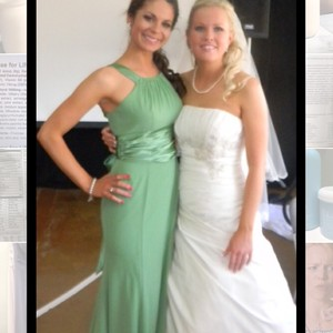 David's Bridal Clover Green Dress