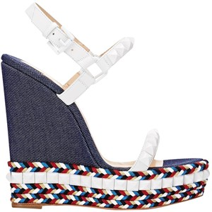 christian louboutin une plume 140 wedges w tags