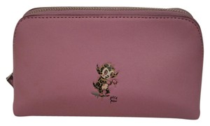 Coach Coach X Baseman Cosmetic Bag 17 Pink Limited Edition NWT