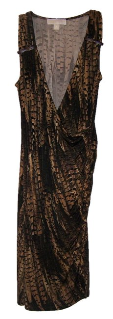 Item - Tan/Brown Rn #111818 Ca#45885 Mid-length Night Out Dress Size 8 (M)