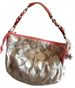 Coach Leather Soft Corral Signature Shoulder Bag