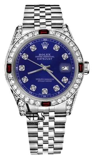 Preload https://img-static.tradesy.com/item/17930944/rolex-womens-31mm-datejust-blue-dial-with-ruby-and-diamonds-bezelaccent-watch-0-2-540-540.jpg