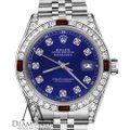 Rolex Womens Rolex 31mm Datejust Blue Dial with Ruby & Diamonds BezelAccent Image 1