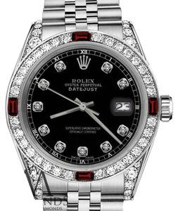 Rolex Womens Rolex 31mm Datejust Black Color Dial with Ruby & DiamondsAccent