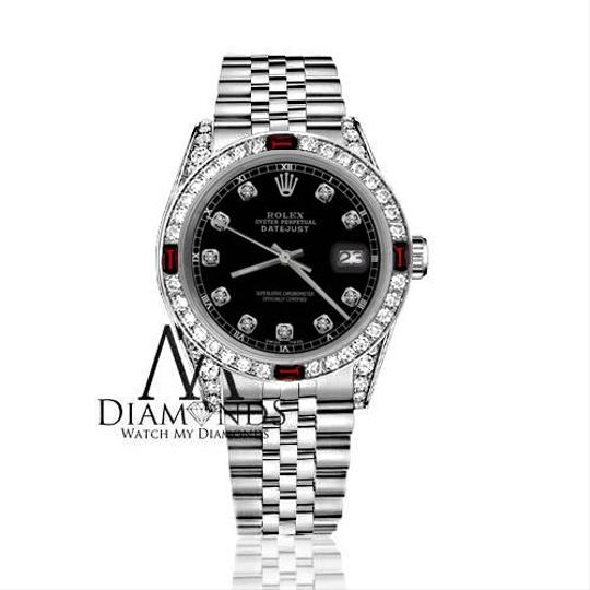 Rolex Womens Rolex 31mm Datejust Black Color Dial with Ruby & DiamondsAccent Image 1