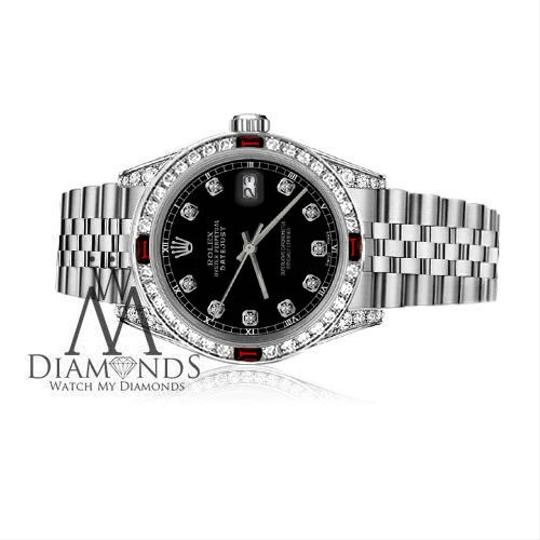 Rolex Womens Rolex 31mm Datejust Black Color Dial with Ruby & DiamondsAccent Image 2