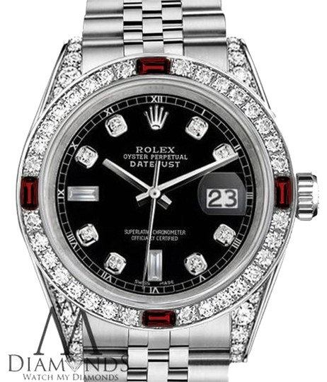 Preload https://img-static.tradesy.com/item/17931244/rolex-women-s-31mm-datejust-steel-black-dial-ruby-and-diamond-watch-0-1-540-540.jpg