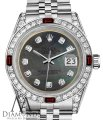 Rolex Ladies Rolex 26mm Datejust Black MOP Dial with Rbuy & Diamonds Image 0