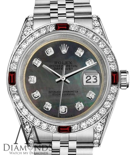 Preload https://img-static.tradesy.com/item/17931340/rolex-ladies-26mm-datejust-black-mop-dial-with-rbuy-and-diamonds-watch-0-1-540-540.jpg