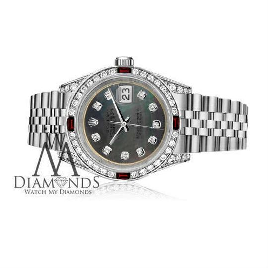 Rolex Ladies Rolex 26mm Datejust Black MOP Dial with Rbuy & Diamonds Image 2