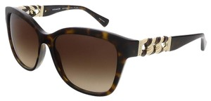 Coach Coach Dark Tortoise Square Sunglasses