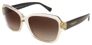 Coach Coach Crystal Light Brown Square Sunglasses